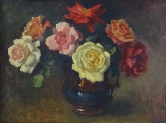 22: Faith Kenworthy - Browne`(1882-?) Oil on board 'Ros