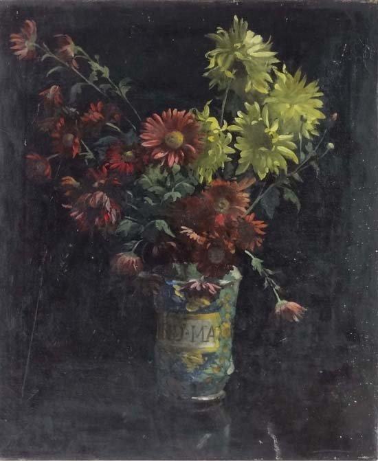 23: Continental School XIX-XX Oil on canvas Unusual Sti