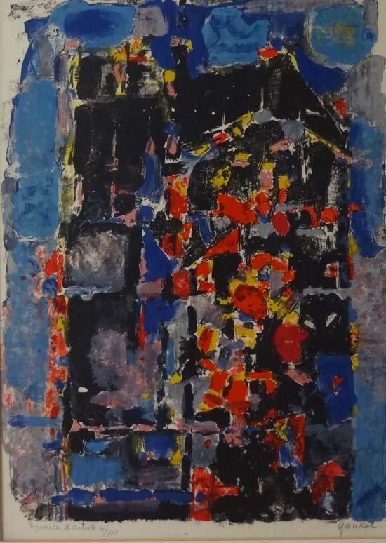 133: Jaques Yankel, (1920-2004) Colour lithograph Compo