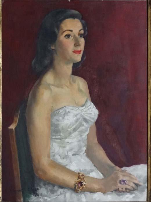 4: Elizabeth Wolf (1873-?) N.S. Oil on canvas Portrait