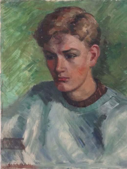 6: Mrs.Geraldine Dewar Mid XX R.S.P Oil on canvas Portr