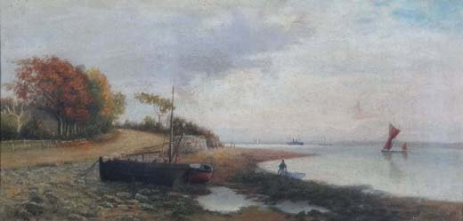 10: J Roller XIX Continental Oil on canvas 'Nelly Shore