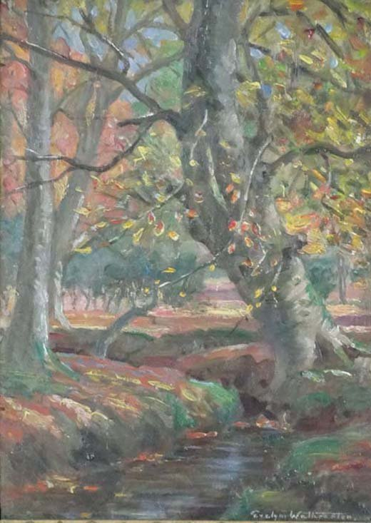 14: Evelyn Mary Watherston (? - 1952) Oil on panel ' Au