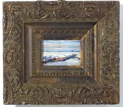 15: Indistinctly signed ?Jul Futaty Oil on canvas laid