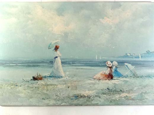 20: Marie Charlot XX French Oil on canvas Ladies on the