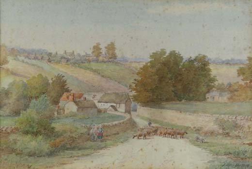 23: James Allen Shuffrey (1859-?) Watercolour ' Newton