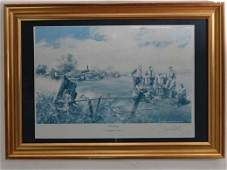 259 Geoff Nutkins Framed lithograph WWII  Standby