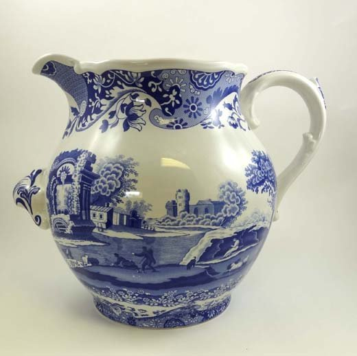 355: A Spode blue and white transfer printed large jug