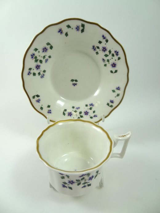 363: A 19thC Mason's style teacup and saucer decorated