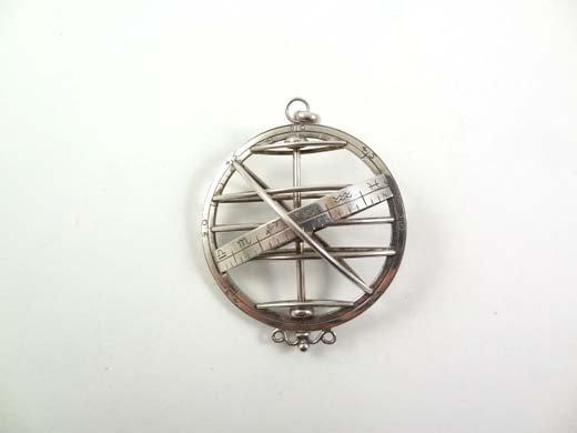 703: A HM silver pendant Armillary sphere? / Orrery ?