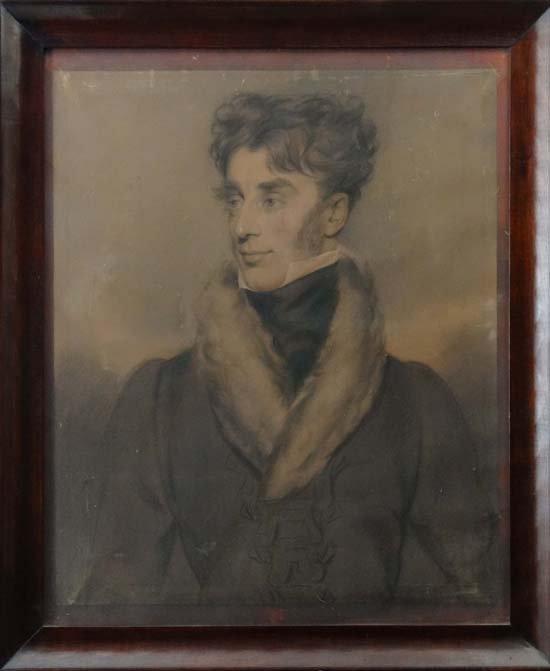 3: Early XIX Charcoal and chalks Portrait of a distingu