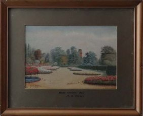 6: Alf S. Watson 1926 Watercolour 'Rose Garden, Kew'  S