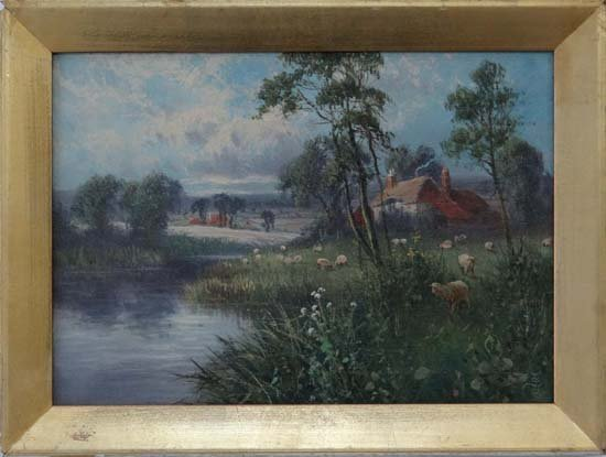9A: Monogrammes JS c.1900 Oil on canvas Sheep besides R