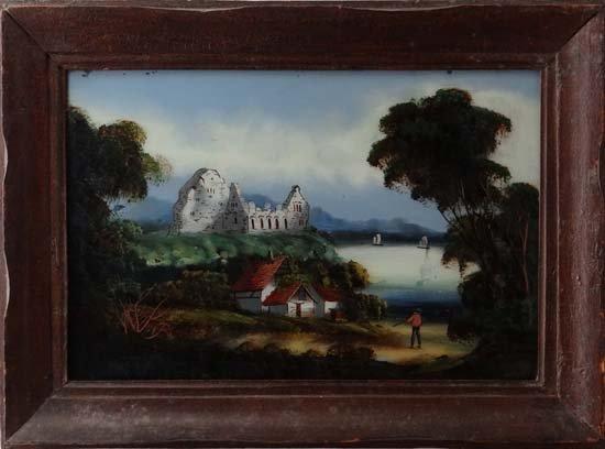 14: English Romantic School Reverse Glass painting Engl