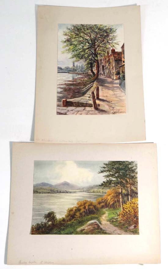 17A: L Vallamer early XX Two watercolours  ' Chiswick i