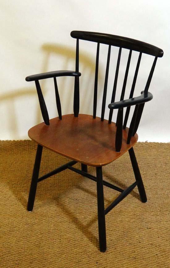 73: Vintage Retro :a Danish Farstrup carver chair c. 19