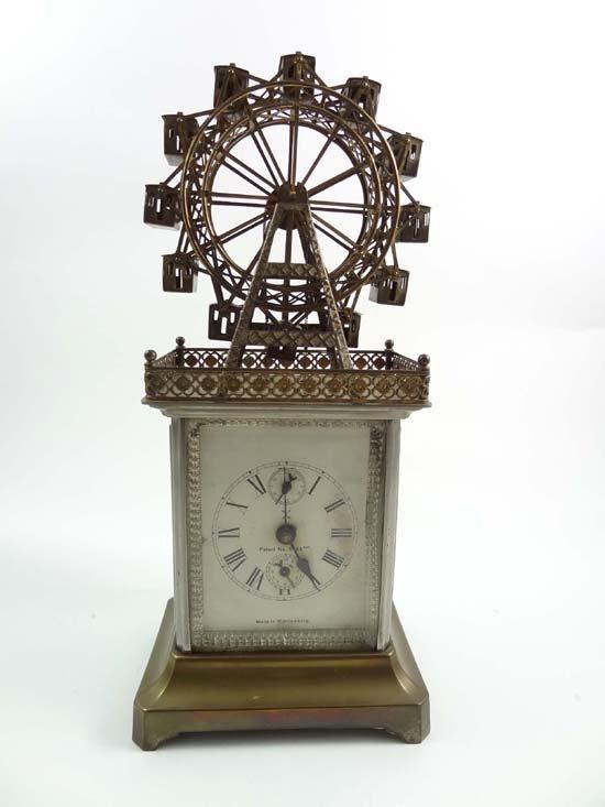 214: Rare Automaton carriage alarm clock : an early 20t