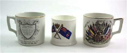 223: A pair of WWI Commemorative Mugs depicting Allies