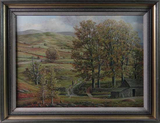 Stanley G Anderson XX Oil on canvas ' Trough of Bowland
