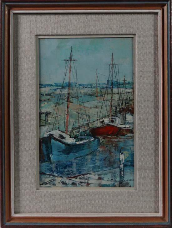 H.  Hanfling (XX) Oil on board 'Faversham, Kent Signed