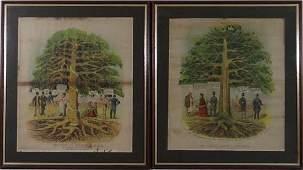 After G Peake XIX Temperance Art circa 1880 A pair of c