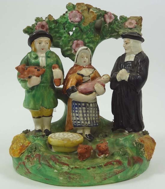 An early 19thC bocage Tithe Pig Group depicting the vic