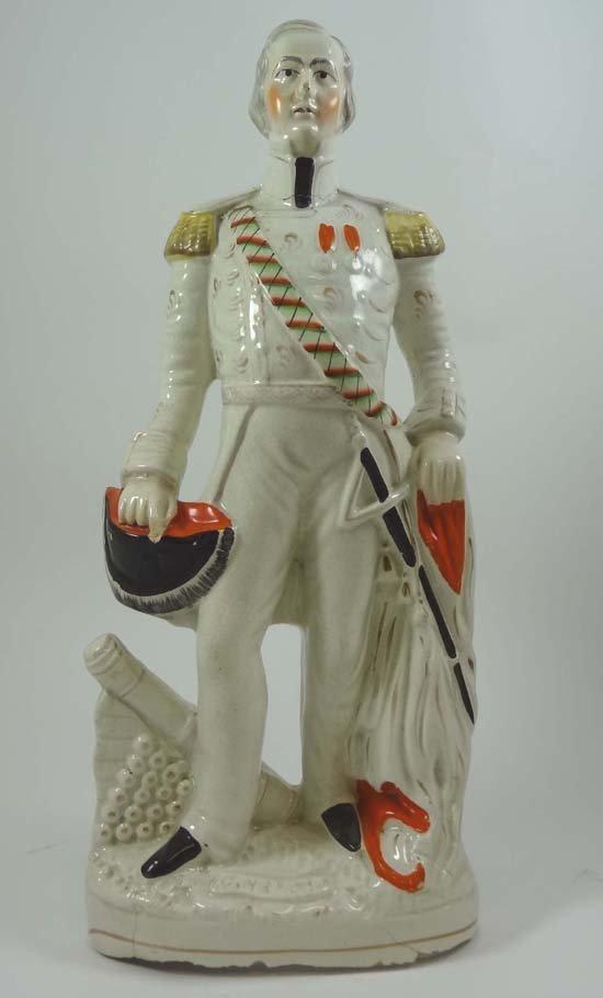 A Victorian Staffordshire Crimean military figure depic