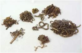 A quantity of assorted 9ct gold and gilt metal chains