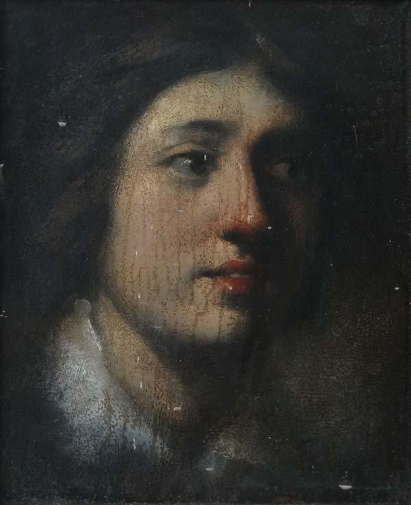 XVIII/XIX Oil on board Portrait of a young male Indisti