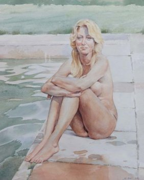 Wilfred Glyndon May (1922 - 2007) Watercolour ' Miss Ma