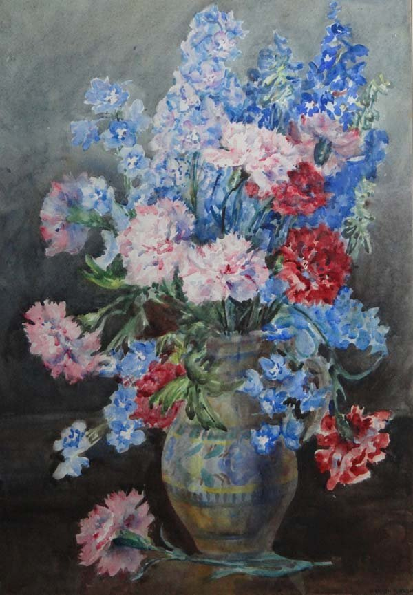 Marion L. Broom (1878-1962) Watercolour Still life of C