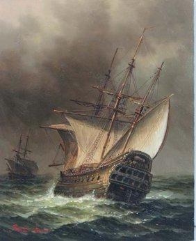James Hardy (XX) Maritime Oil on board An Elizabethan M