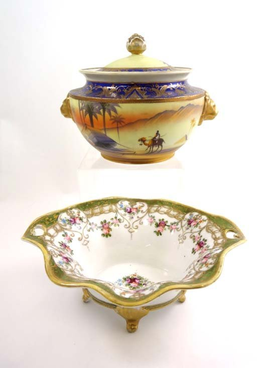 Items of Noritake Wares comprising a Camel China covere