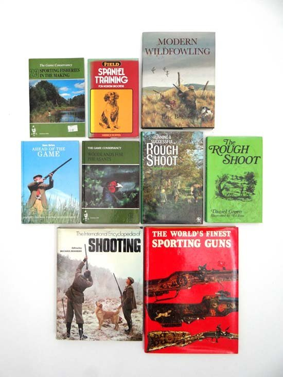 Books : A quantity of books on shooting including Eric