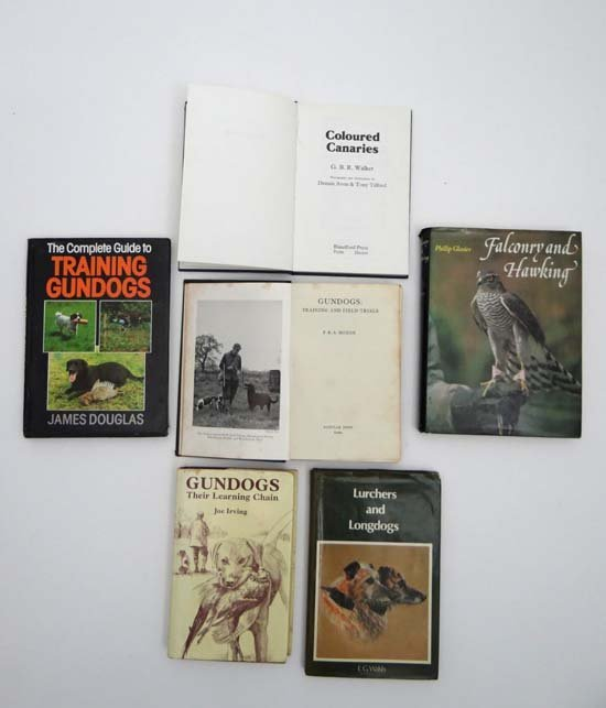 Books : A selection of gun dog books including Phillip
