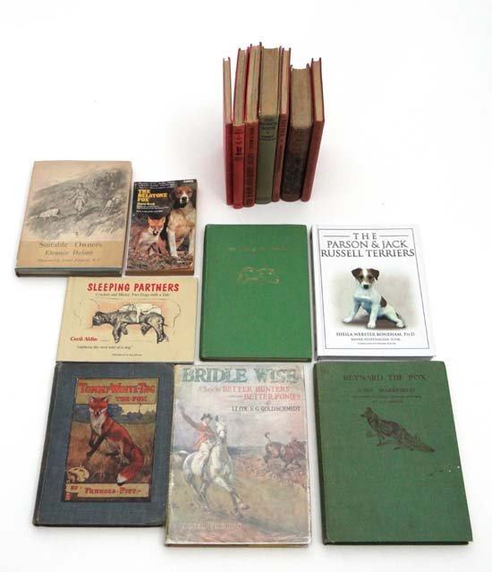 Books : A selection of hunting and dog story books, mos