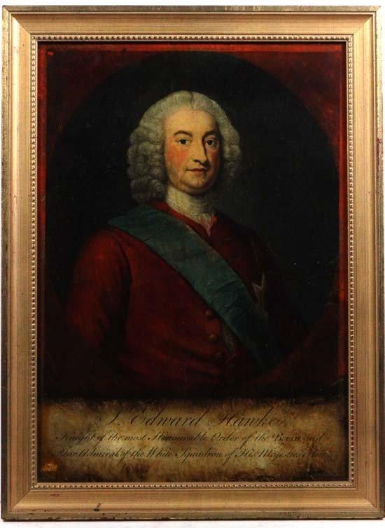 Coloured Reverse Glass Mezzotint C. 1755 J. McArdell af