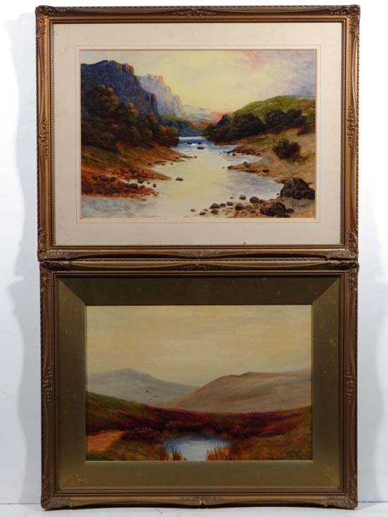 Scottish Scenes WP Haigh early (XX) Oil on canvas board