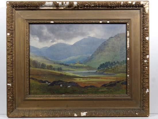 D. Gould (XIX-XX) Watercolour ' Blea Tarn ; Southside a