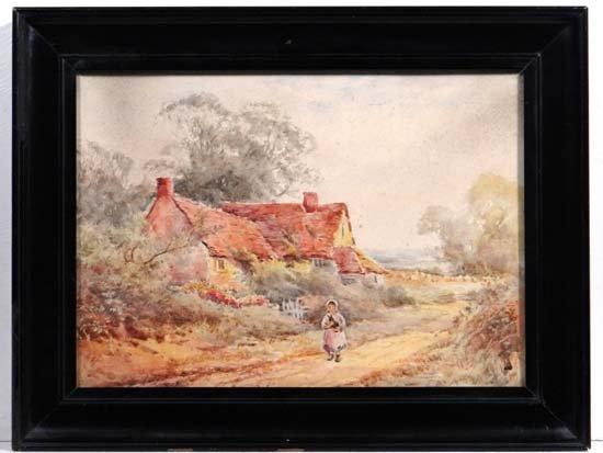 Follower of H Stannard C. 1900 Watercolour Young girl h