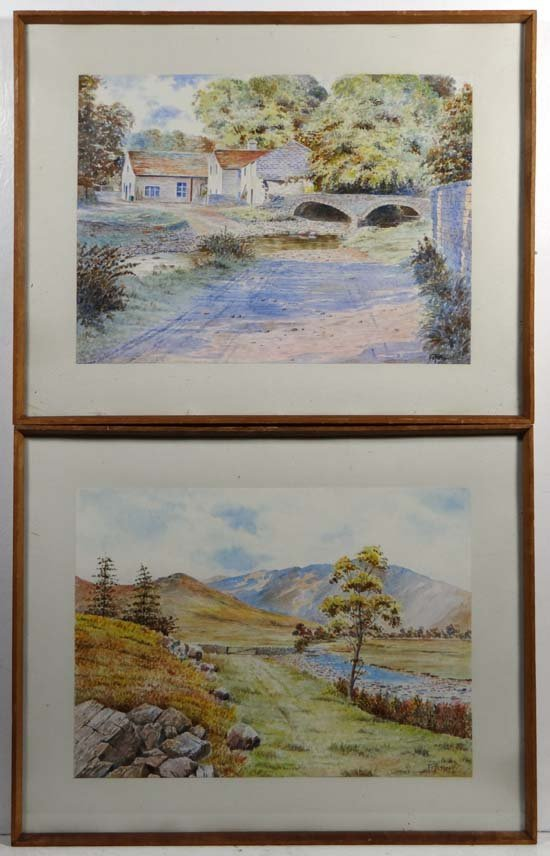 F C Picton (XX) Pair of watercolours North country View