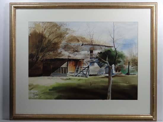 H(?) Mendoza Continental School Watercolour Sunlight dr