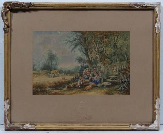 G Baxter print ' The Cornfield '  Impressed under Apert