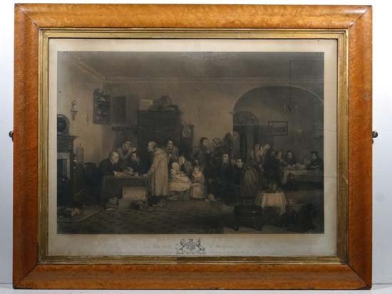 A Raimbach after David Wilkie RA Monochrome engraving (