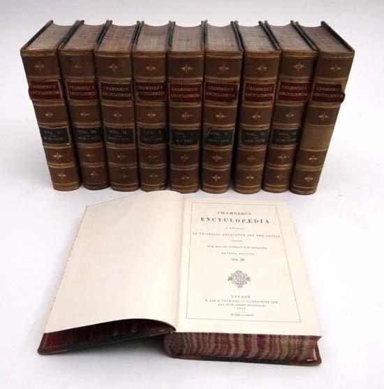 Books : Chambers's Encyclopaedia volumes 1 to 10, publi