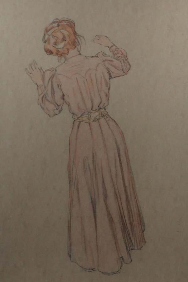 Raphael Kirchner (1876-1917) Pencil and pastel Portrait