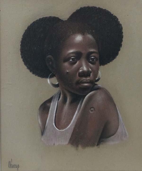 Chiroop XX African School Pastel on buff paper Portrait