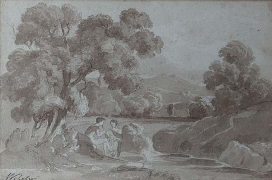 Thomas Webster (c.1772-1844) Pen and Sepia Wash An Arca