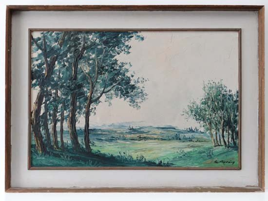 Gillraiy? XX Oil on board Landscape Signed lower right