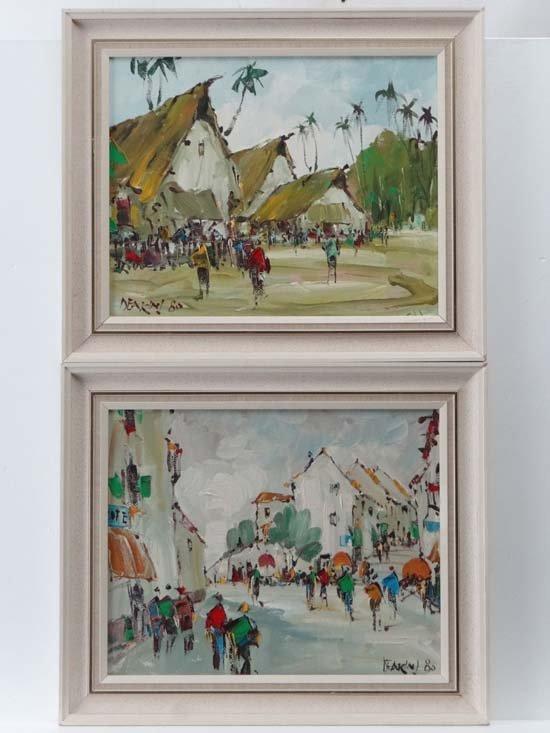 George Richard Deakins ( 1911-1982) Oil on boards, a
